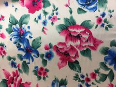 Floral pattern on off white ground