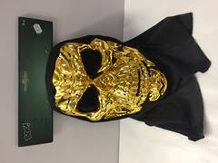 Gold skull with hood