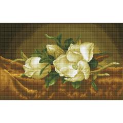 Magnolias on gold velvet DD12.46