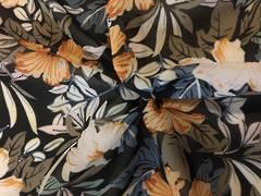 Earthy tone Hibiscus on Black ground