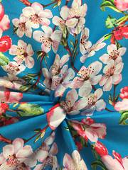 Cherry Blossom on Aqua ground