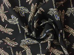 Rayon dragonfly on black BG