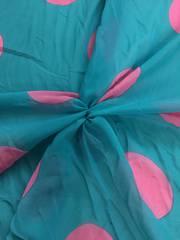 Hot pink spots on aqua background