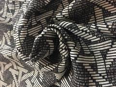 Rayon geometric pattern tones of grey