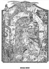Doodle Art  Mystical Fantasy