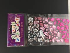 Self stick gems - pinks and silver - Craft Workshop
