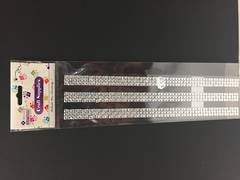Silver strips - stick on - Megaie