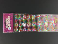 Assorted round stick on gems - Craft Workshop