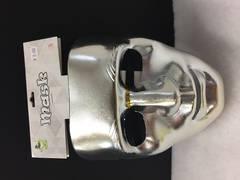 Silver plain mask