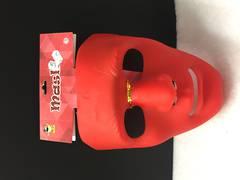 Red plain mask