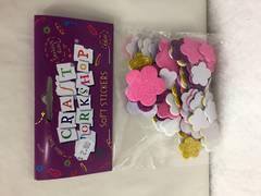 Soft foam stickers - flower shaped