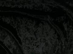 Black crushed velvet