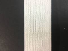 Knitted Elastic 25mm White