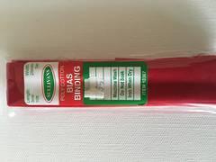 Bias Binding 25mm Red
