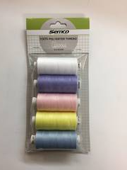 Thread Pack 5 Assorted Bright Colours