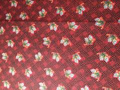 Grapes on black and red Gingham 100% Cotton