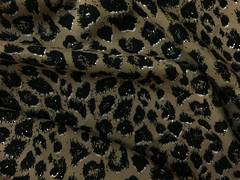 Rayon animal print light brown BG