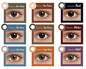 Silkon Colour Contact Lenses Monthly Disposable  Manxion 2pcs