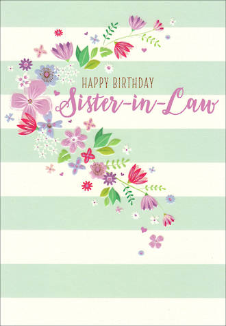 In Laws Birthday Card Sister In Law Life & Soul