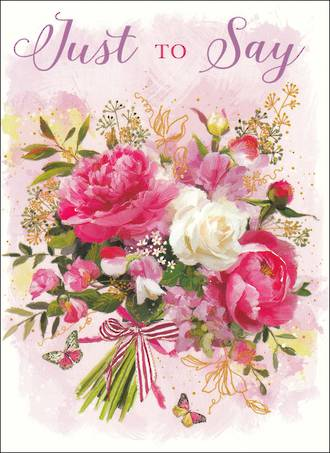 Mini Card Just To Say Bouquet