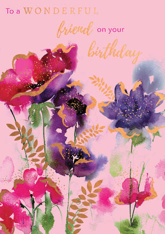 Blooming Botanicals Birthday Friend