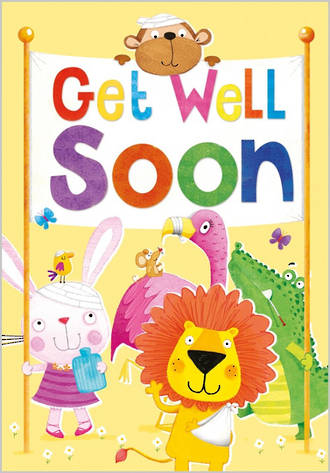 Get Well Card 100% Kids Juvenile Animals