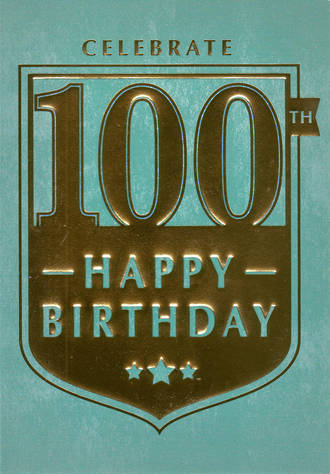 Birthday Age Card 100 Male Regalia