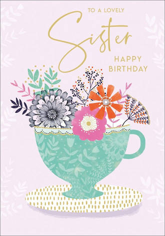 Sister Birthday Card Tallulah Rose Large