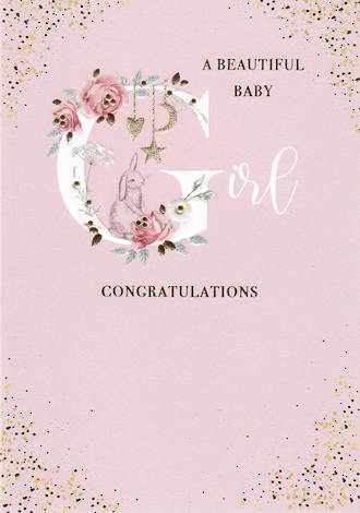 Baby Card Girl Belgravia Congratulations