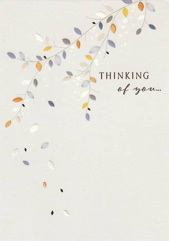 Sympathy Card Thinking of You Leaves