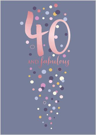 Birthday Age Card 40 Female Life & Soul