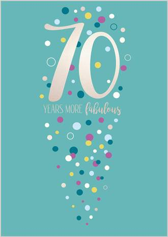 Birthday Age Card 70 Female Life & Soul