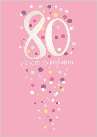 Birthday Age Card 80 Female Life & Soul