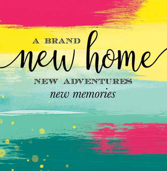New Home Card Velvet Ink Paint