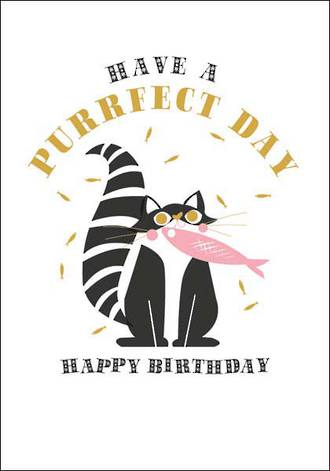Cool For Cats Birthday Purrfect Day