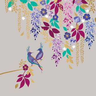 Sara Miller Purple Birds