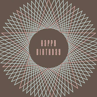 Spirit Happy Birthday Geometric