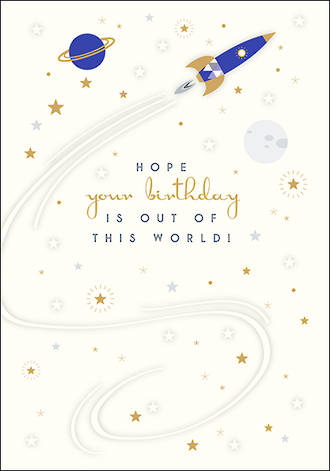 True Blue Birthday Out of World