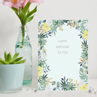 Amy Louise Birthday Mint Tropical