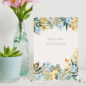 Amy Louise Birthday Tropical Floral