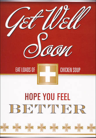 Get Well Card Chicken Soup Soon