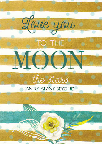 Gold Dust Love you to the Moon