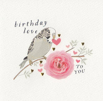 Quill Birthday Love Budgie
