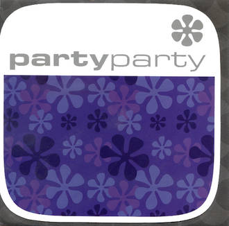 Blank Card Typographic Checkout Square Party Flower