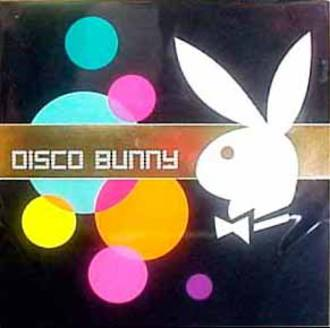 Blank Card Typographic Playboy Square Disco Bunny