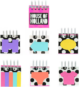 House of Holland Sticky Notes Black