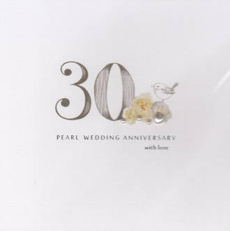 Anniversary Card 30th Pearl Picadilly Pearl