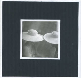 Blank Card Photographic Two Women Wearing Hats