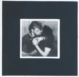 Blank Card Photographic Boy Kissing Girl