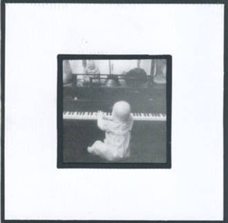 Blank Card Photographic Baby & Piano Ridenour